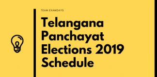 Telangana TS Panchayat Elections 2019 in 3 Phases Notification Out