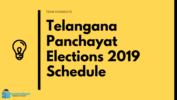 Telangana Panchayat Elections 2019 in 3 Phases | Notification Out