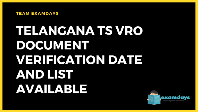 Telangana TS VRO Document Verification Date and List Available
