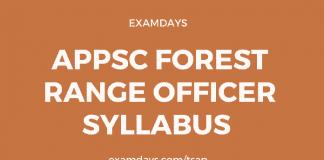 appsc forest range officer syllabus