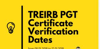TREIRB PGT Certificate Verification Dates