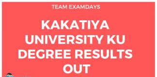 Kakatiya University Degree Results