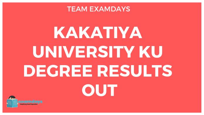 KU Degree Revaluation Result 2019 Kakatiya University 1st 2nd 3rd