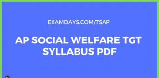 ap social welfare tgt syllabus