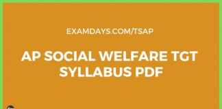 ap social welfare warden syllabus