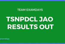 tsnpdcl jao results