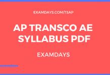 ap transco syllabus