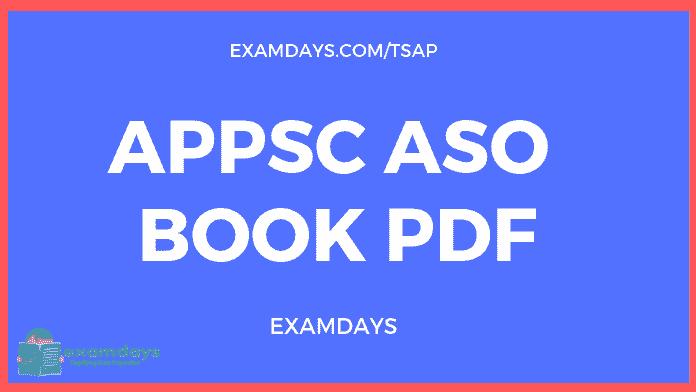 appsc aso book pdf