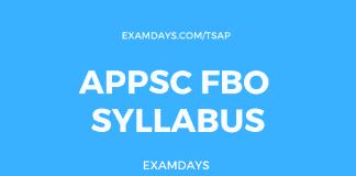 appsc fbo syllabus
