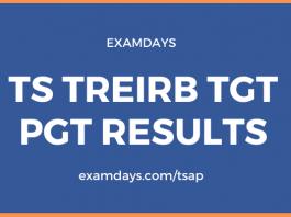TS TREIRB TGT PGT Results