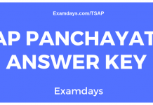 appsc panchayat secretary answer key