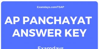 appsc panchayat secretary answer key