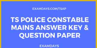 ts police constable mains answer key