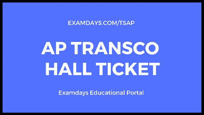 ap transco hall ticket
