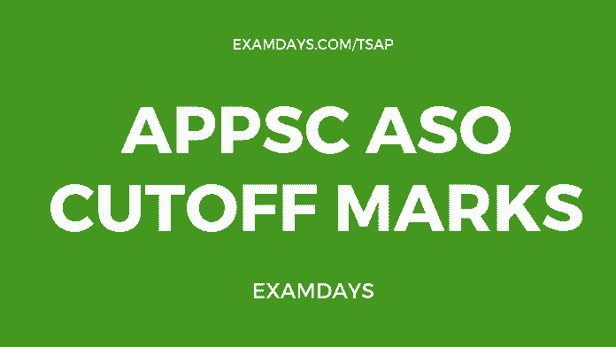 appsc aso cutoff marks