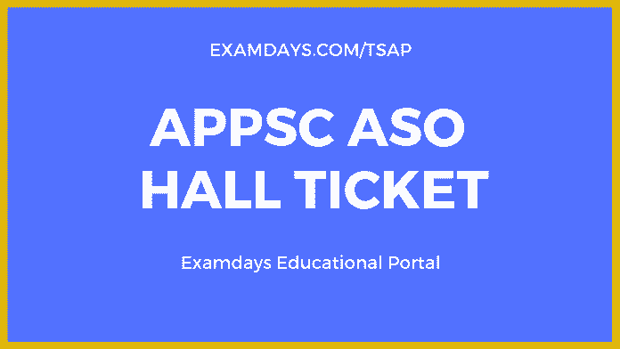 appsc aso hall ticket