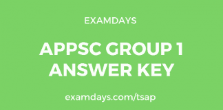 appsc group 1 answer key