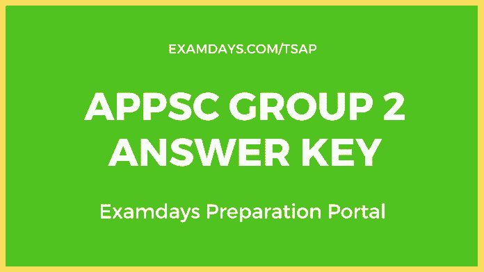 appsc group 2 answer key