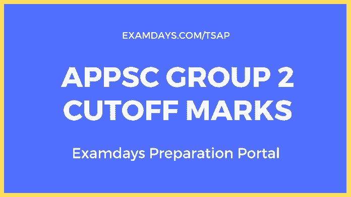 appsc group 2 cutoff marks