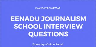 eenadu journalism interview questions