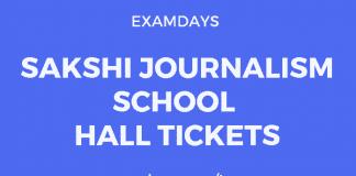 sakshi journalism school hall tickets