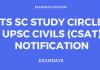 ts sc study circle csat
