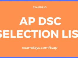 ap dsc selection list