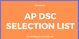ap dsc selection list