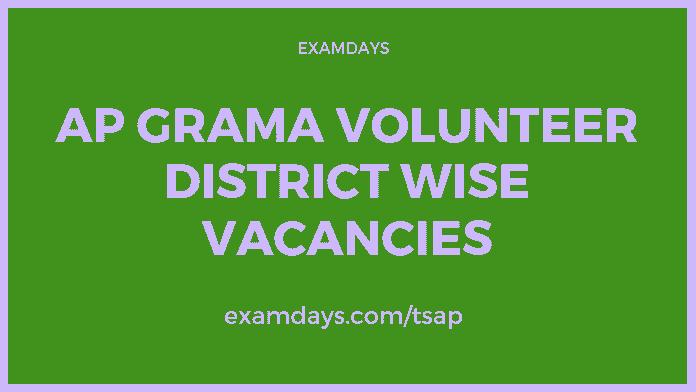 ap grama volunteer district wise vacancies