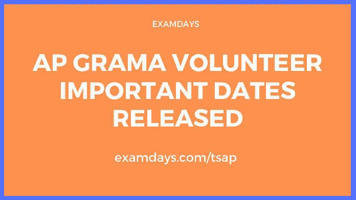 ap grama volunteer application date