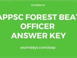 appsc forest beat officer answer key