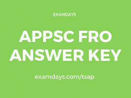 appsc fro answer key