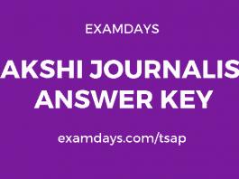 sakshi journalism school answer key