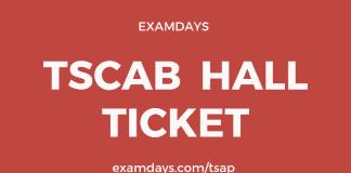 tscab staff assistant hall ticket