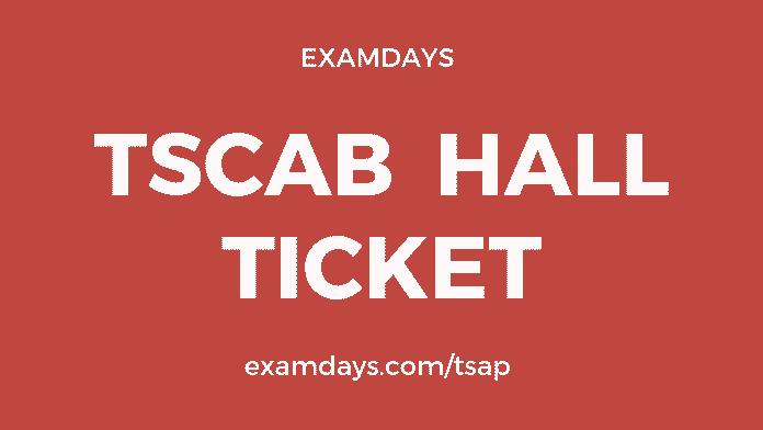 tscab staff assistant hall ticket