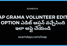 ap grama volunteer edit option