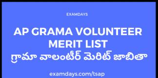 ap grama volunteer merit list