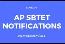 ap sbtet notifications