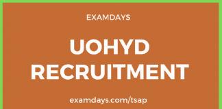 uohyd recruitment
