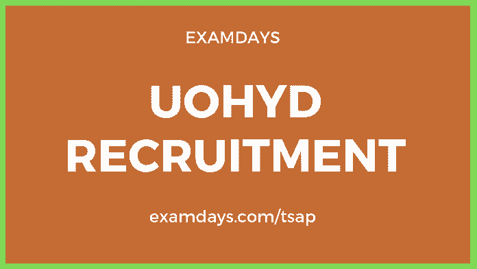 uohyd recruitment