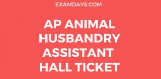 ap animal husbandary assistant hall ticket