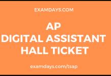 ap digital assistant hall ticket