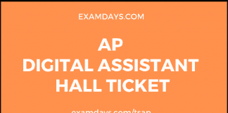 ap digital assistant hall ticket