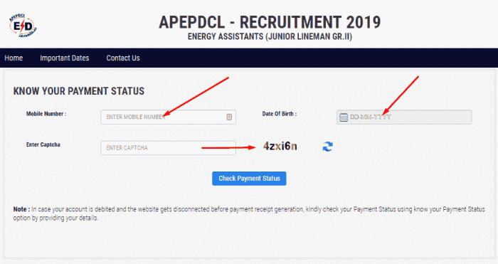 ap jlm application payment status