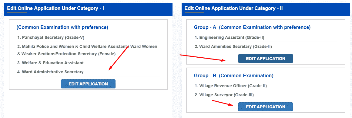 AP Sachivalayam OTPR Edit Option 2019 Online Application