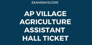 ap village agriculture assistant hall ticket