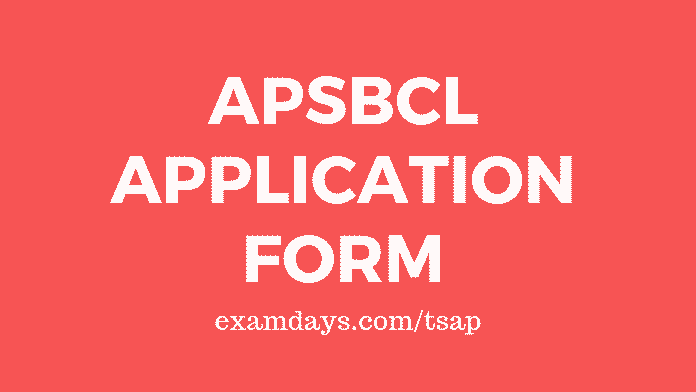 apsbcl application form