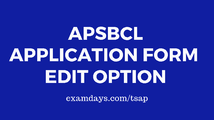 apsbcl application form edit option