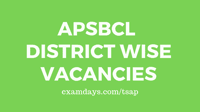 apsbcl district wise vacancies