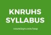 knruhs syllabus